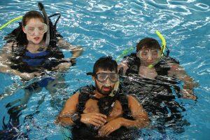 Students scuba diving