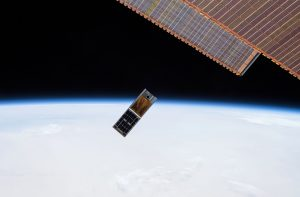 HaloSat Satellite being deployed into Low Earth Orbit