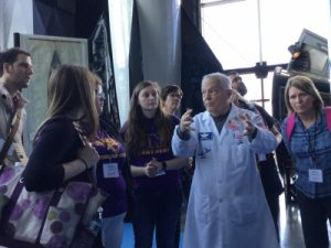 UNI representatives tour the NASA Marshall Space Flight Center in planning To Touch the Moon