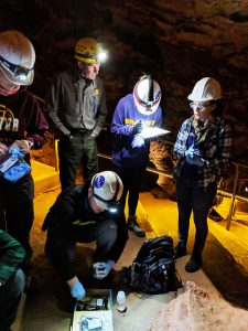 UNI students researching the depths of Wind Cave National Park, South Dakota
